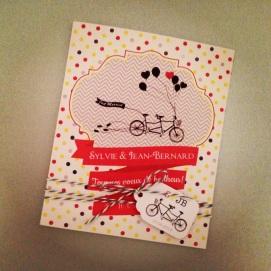 Carte de félicitations de mariage