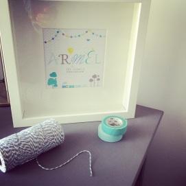 Cadre personnalisé pour chambre de bébé