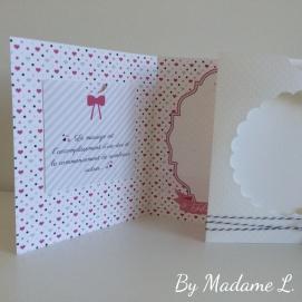 Carte félicitations mariage avec pochette cadeau